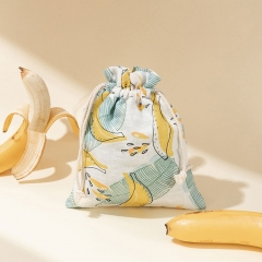 Travel Beauty Drawstring Bag Banana Fiber - CNC135
