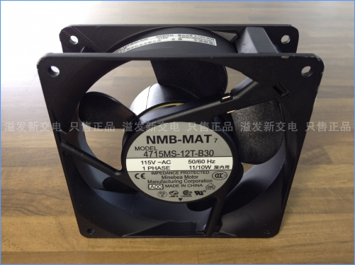 The original NMB Minebea 4715MS-12T-B30 axial flow fan cooling fan 115V 120X120X38MM