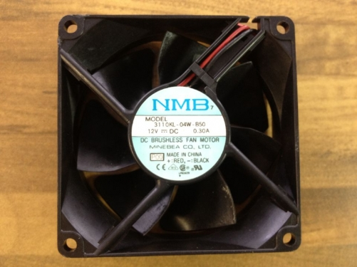 The original NMB 3110KL-04W-B50 Minebea DC axial fan 80X80MM industrial cooling fan