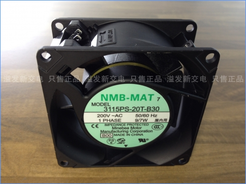 The original NMB Minebea 3115PS-20T-B30 axial flow fan cooling fan 220V 80X80X38MM