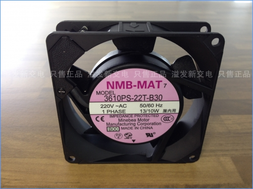 The original NMB Minebea 3610PS-22T-B30 axial flow fan cooling fan 200V 90X90X25MM