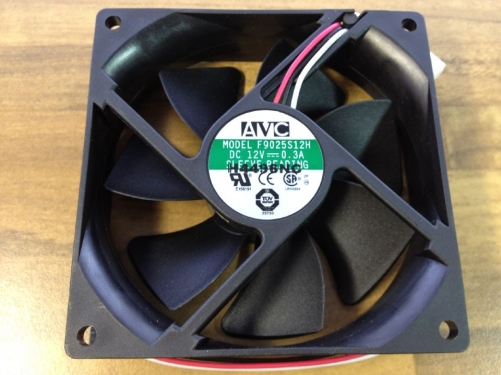 Original V C F9025 S12H A DC axial flow fan 90X90MM 12V0.3A industrial cooling fan