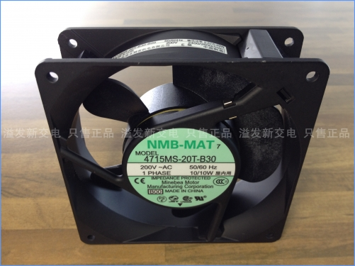 The original NMB Minebea 4715MS-20T-B30 axial flow fan cooling fan 200V 120X120X38MM