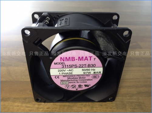 The original NMB Minebea 3115PS-22T-B30 axial flow fan cooling fan 220V 80X80X38MM