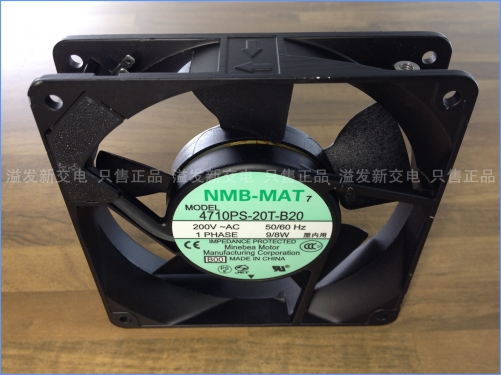 The original NMB Minebea 4710PS-20T-B20 axial flow fan 220VAC 8W 120X120X25MM