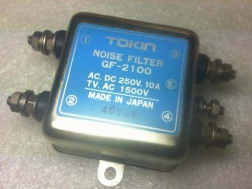 Japan TOKIn transformer filter GF-2100/250VAC/10A/TV.AC.1500V/10A
