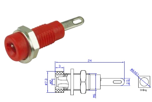 General BS2102 2mm for the straight rod type plug socket panel such as ordinary pen socket
