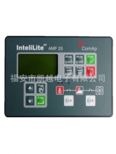 The control panel - generator, controller COMAP controller AMF-25 power generating unit