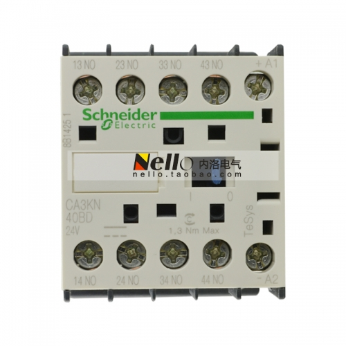 Original genuine Schneider DC contactor type intermediate relay CA3KN40BD, DC24V, 4A, 4NO