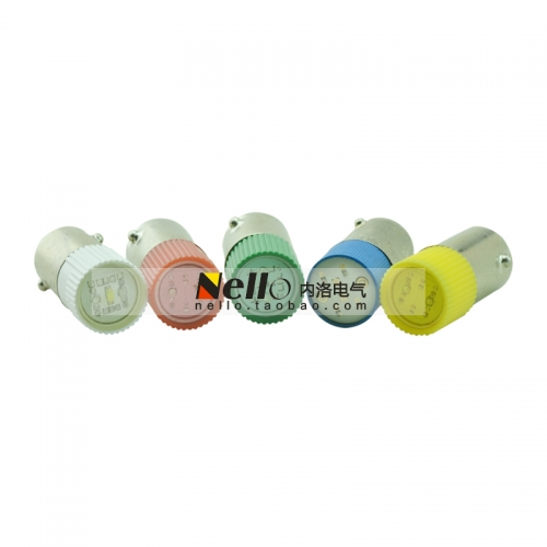 Domestic high-quality 4 core LED beads AC110V AC220V red yellow green blue and white BA9S 9mm bayonet