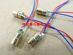 4.5V laser head, laser diode, 650NM, 5MW, copper semiconductor laser tube, 6MM outer diameter