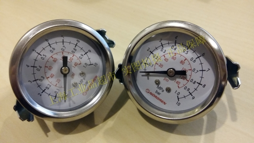 Nuoguan NORGREN panel mounting pressure gauge 18-013-857, imported 18-013-858