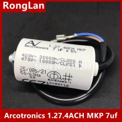 [New Original] Arcotronics AV 1.27.4ACH MKP 7uf 5% motor start capacitors