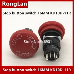 Electronic switch push button switch emergency stop button 16MM emergency switch KD10D-11R KD10D-22R Sanmenxia emergency stop