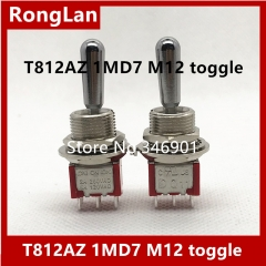 T812AZ trigger dual three channel double toggle switch reset M12 bulk dust 1MD7 Taiwan deliwei Q11