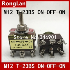 T-23BS dual lioujiao three large toggle switch toggle switch table to move the switch M12 in Taiwan