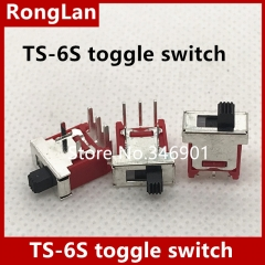 TS-6S single tripod is bent two files small toggle toggle switch Taiwan deliwei slide switch Q25
