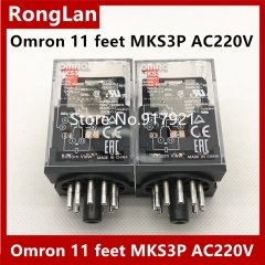 Supply of new original electromagnetic relay omron Omron 11 feet MKS3P AC220V DC24/AC220/DC12/AC12/AC24/AC110V