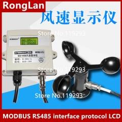 Wind speed indicator MODBUS RS485 interface protocol LCD