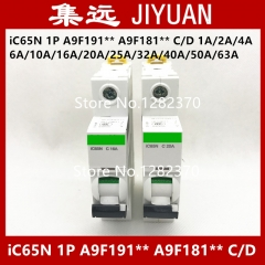 original breaker air switch iC65N 1P A9F191** D 1A/2A/4A/6A/10A/16A/20A/25A/32A/40A/50A/63A power lines