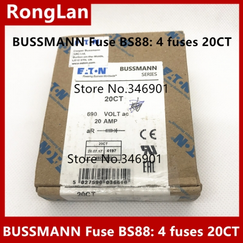 BUSSMANN fuse tube, BS88:4 fuse, 20CT, 20A, 10CT, 16CT, 690V