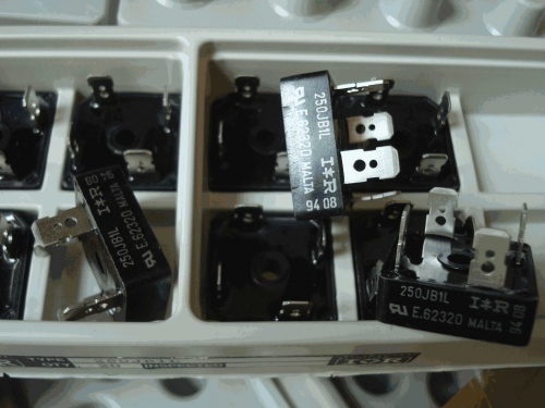 V Ishay IR 25A 100V Square Rectifier Bridge 250JB1L Origional Product Italy Original Box All New Products