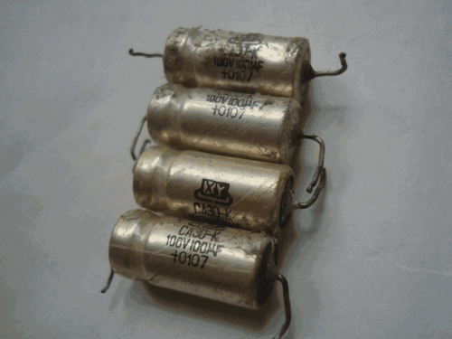 Origional Product Disassemble 100V 100UF Fever Tube Amplifier Cathode Liquid Tantalum Silver Silver Capacitance 4PCS