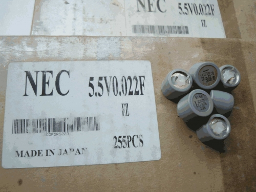 Super-capacitor 5.5V 0.022F Japan NEC Brand New Original Box Real Object Figure 1785PCS