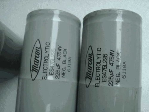Japan MACN Marcon BLACK 475V 225 uf s 220UF450V High Pressure Antique Filter Capacitor
