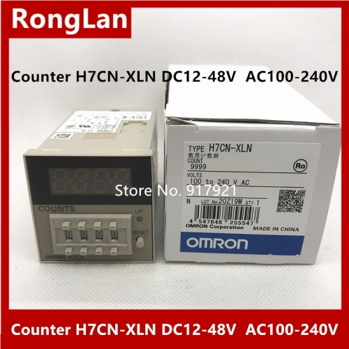 New original authentic OMRON Omron digital counter H7CN-XLN DC12-48V AC100-240V