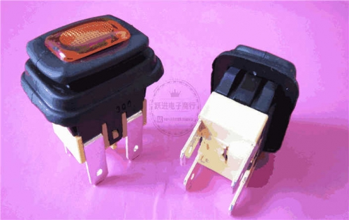 Imported Taiwan Canal PS-5 Self-Locking Power Switch 4-Leg Light Included Waterproof Dustproof Button Button on and off 16A