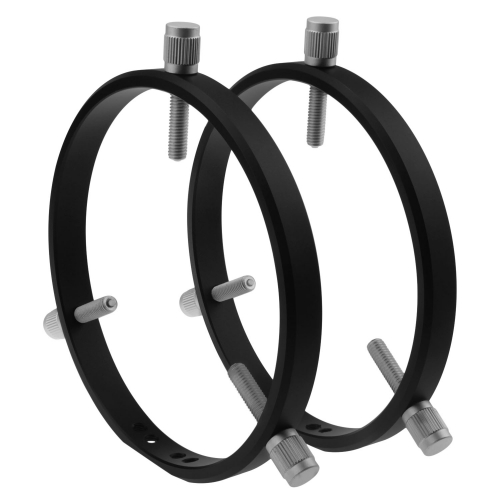 Astromania Adjustable Guiding Scope Rings 152 mm inside diameter (pair) - for Telescope Tube diameter or finders 95 to 150mm