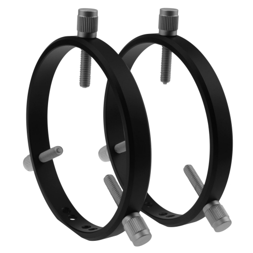 Astromania Adjustable Guiding Scope Rings 127 mm inside diameter (pair) - for Telescope Tube diameter or finders 70 to 120mm