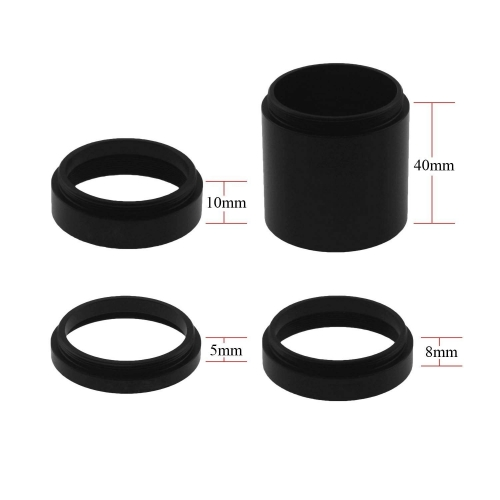 Astromania Astronomical T2-extension Tube Kit for cameras and eyepieces - Length 5mm 8mm 10mm 40mm - M42x0.75 on Both Sides