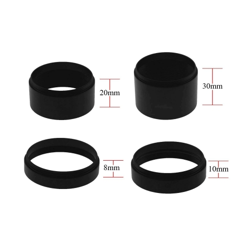 "Astromania Astronomical 2""/M48-extension Tube Kit for cameras and eyepieces - Length 8mm 10mm 20mm 30mm - M48x0.75 on Both Sides"
