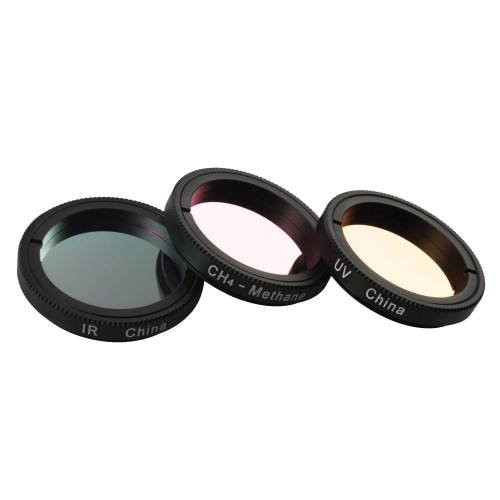 Astromania 1.25-Inch S pecialized Planetary Imaging Filter Set 3-Pieces (Ultraviolet (UV) filter/Methane (CH4) filter/Infrared (IR) filter)