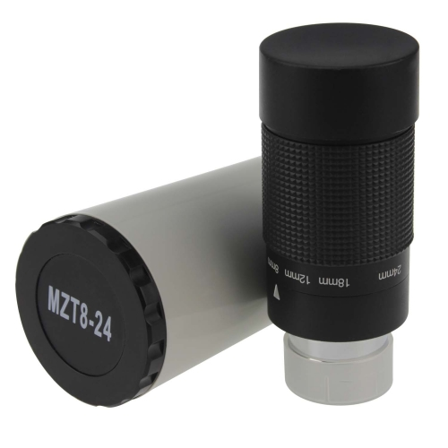 "Astromania 1.25"" 8-24mm Zoom Eyepiece for Telescope with T-Thread"
