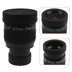 "Astromania 1.25"" 27mm Premium Flat Field Eyepiece - a flat image field and crystal-clear images"