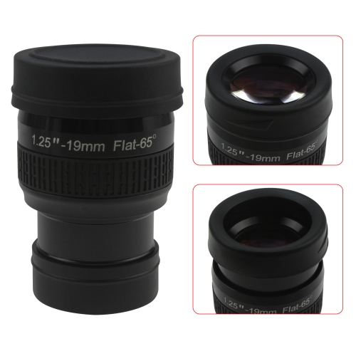 "Astromania 1.25"" 19mm Premium Flat Field Eyepiece - a flat image field and crystal-clear images"