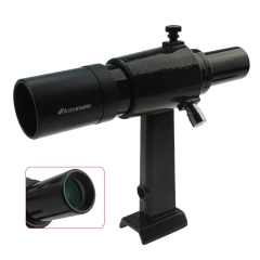 Astromania 6x30 Finder Scope, Black - provides an upright, non-reversed image