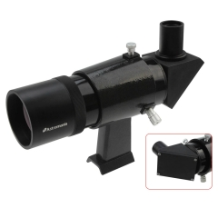 Astromania 9x50 Angled Finder Scope, Black - You will no longer need to strain your neck at difficult angles