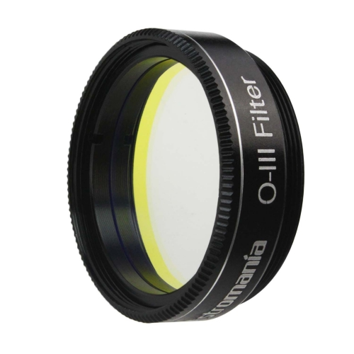 "Astromania 1.25"" O-III Filter - produces near-photographic views of the Veil, Ring, Dumbbell and Orion nebula, among many other objects"