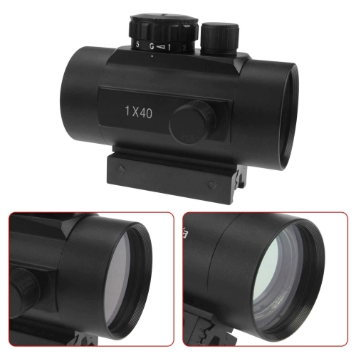 Astromania 1X40RD Tactical Holographic Reflex Red Green Dot Sight Lighted Scope Mount Hunting Optics Riflescopes