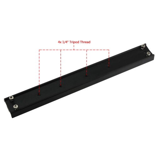 Astromania 33cm mounting Rail for EQ-4/5/6 mounts - GP Prism Rail for telescopes - Easy Installation for Your Telescope OTA
