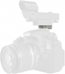 Astromania Silver Plate for The Flash Shoe of DSLR Cameras - Mount The 1X40RD Reflex Red Green Dot Sight to DSLR Cameras