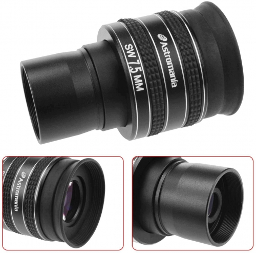 "Astromania 1.25"" 7.5mm 58-Degree Planetary Eyepiece For Telescope"