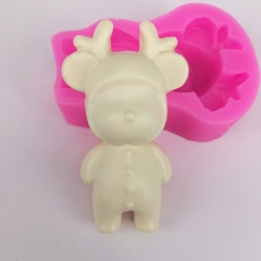 BK1106 Aromatic Bear mold Silicon fragrance plaster pendant mold Silicone for Bear Shape Clay Craft Making Mould