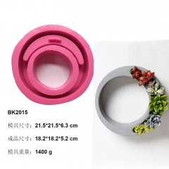 BK2015 concrete cement fleshy flowerpot silicone mold wreath modeling home furnishing gift model