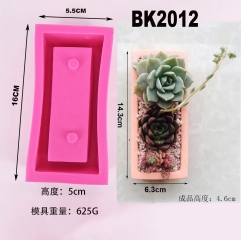 BK2012 faced concrete cement flowerpot silica gel mold I love you series IOU