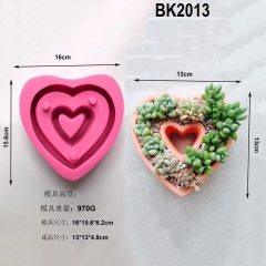 BK2013 faced concrete cement flowerpot silica gel mold I love you series IOU